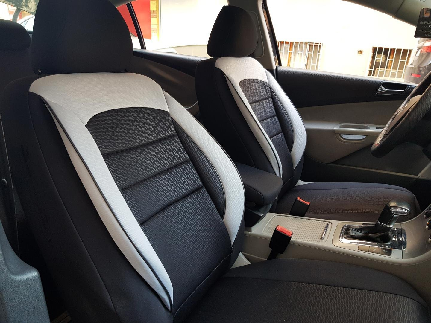 Car Seat Covers Protectors Audi A1 8x Black White No26 Complete