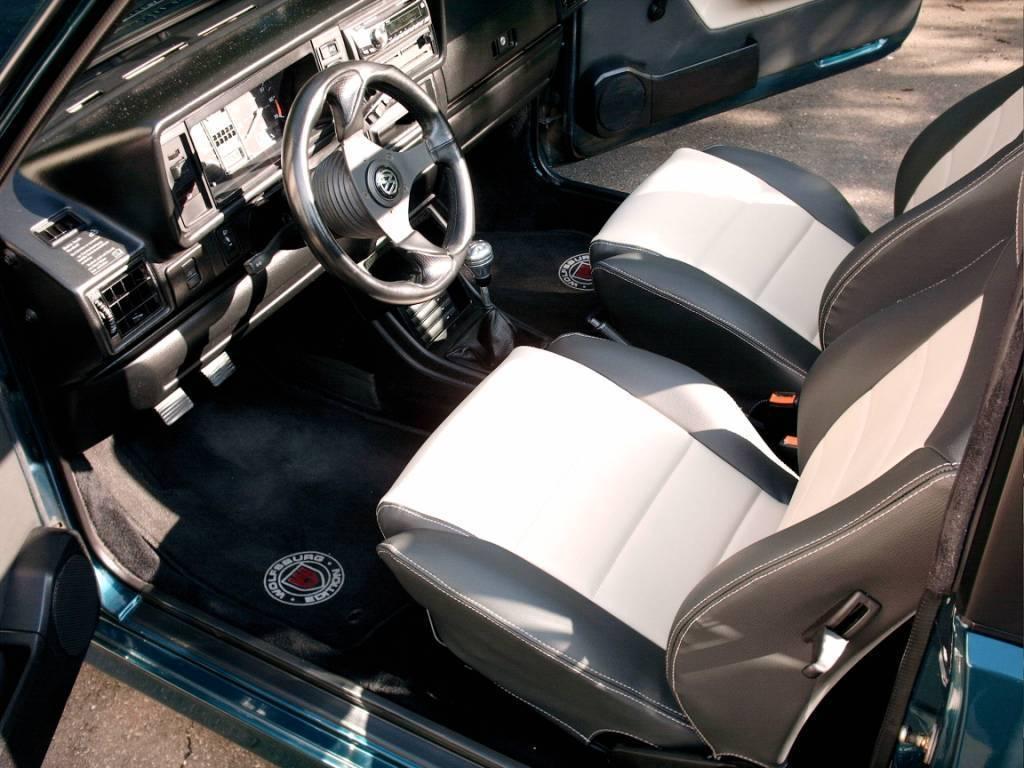 Golf 1 Cabrio Ledersitze und Türverkleidungen schwarz/beige