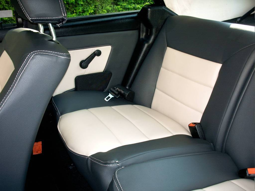 golf mk1 cabriolet artificial leather seat covers in black. Black Bedroom Furniture Sets. Home Design Ideas