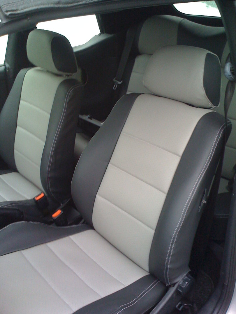 Golf mk4 cabriolet artificial leather seat covers in black, black/beige, black/grey and beige