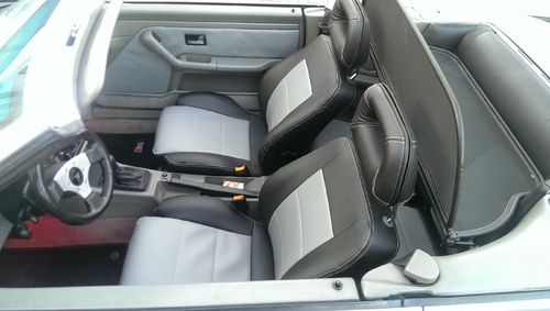 Audi 80 cabriolet artificial leather seat covers in black, black/beige, black/grey or beige