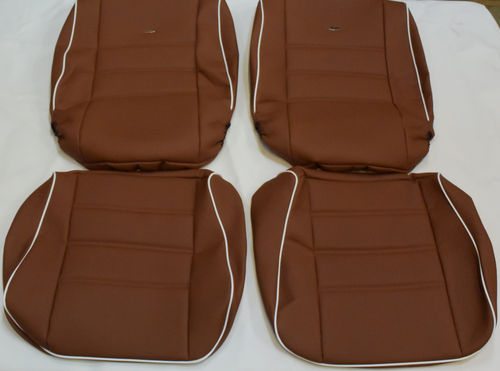 VW Bug Limo 1955-1979 seat covers in black, grey, bordeaux, brown