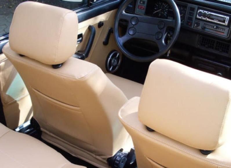 Golf 1 Coupe Lederausstattung Sitzbezüge in schwarz oder beige