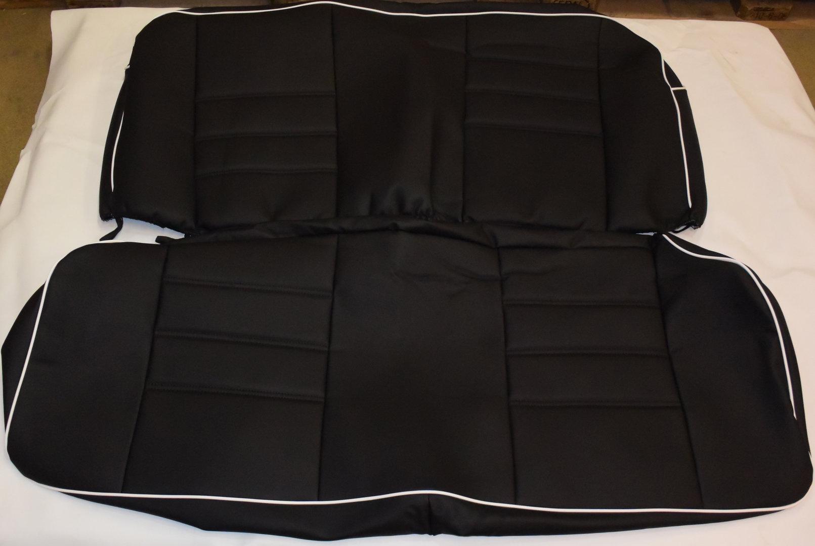 VW Käfer Limousine 08/55 - 07/57 Maß Sitzbezüge in schwarz