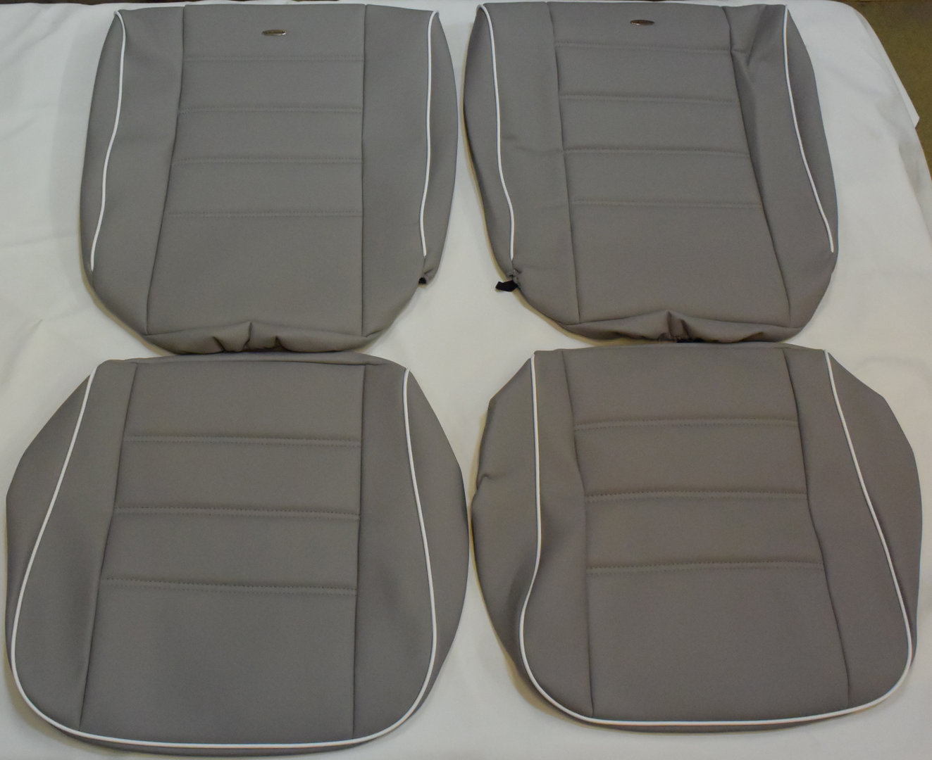 VW Käfer Limousine 08/55 - 07/57 Maß Sitzbezüge in grau