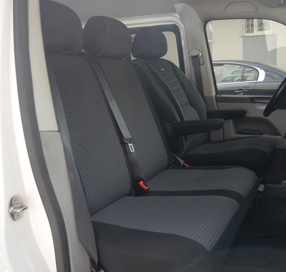Sitzbezüge Schonbezüge VW T5 Caravelle Fahrersitz und Doppelbank