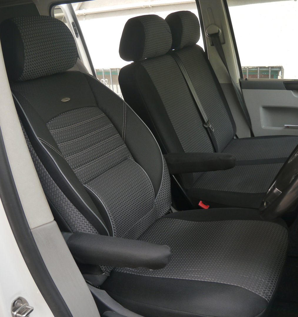 Car seat covers VW T5 Caravelle RHD for drivers seat and bench
