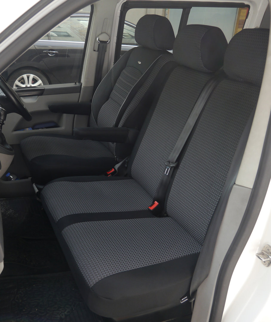 Sitzbezüge Schonbezüge VW T6 Caravelle Fahrersitz und Doppelbank