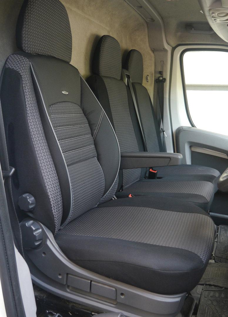 Sitzbezüge Schonbezüge Renault Trafic III Fahrersitz und Doppelbank