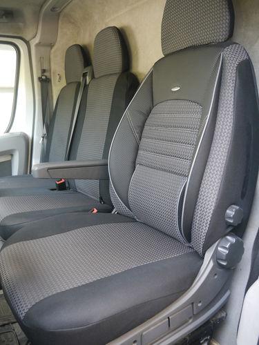 Sitzbezüge Schonbezüge Nissan Primastar Fahrersitz + Doppelbank