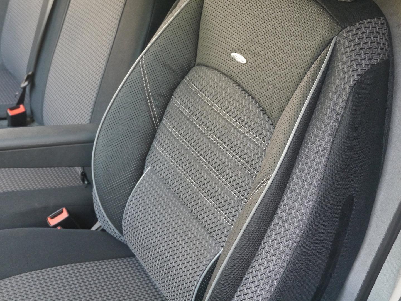 Autositzbezüge für Nissan Primastar 01-14 2+1 Grau Vordersitze Schonbezüge Bezug