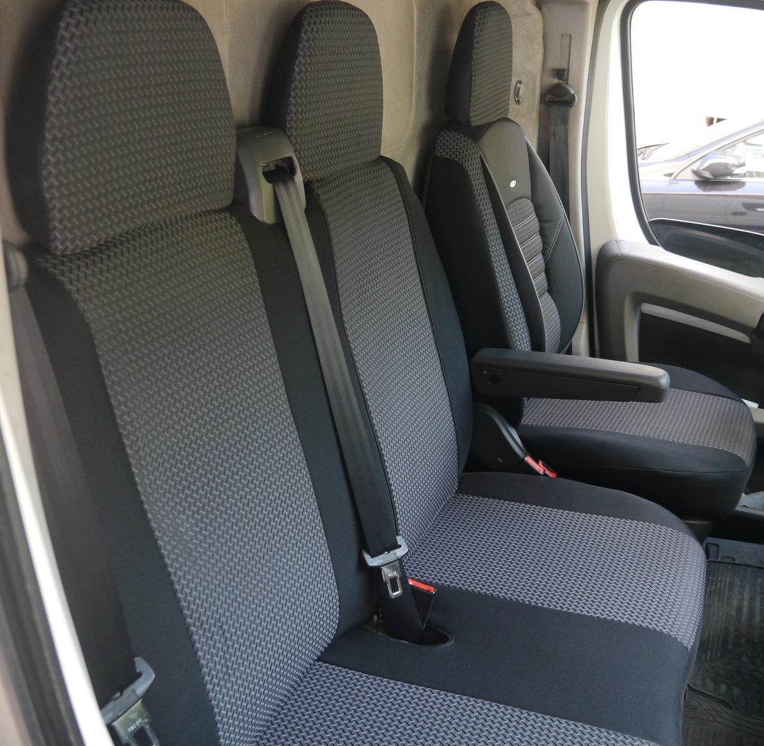 Sitzbezüge Schonbezüge Mercedes Sprinter W906 Fahrersitz und Bank