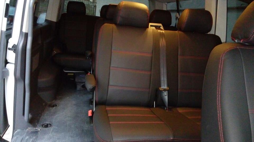 Sitzbezüge Schonbezüge VW T5 Caravelle für neun Sitze