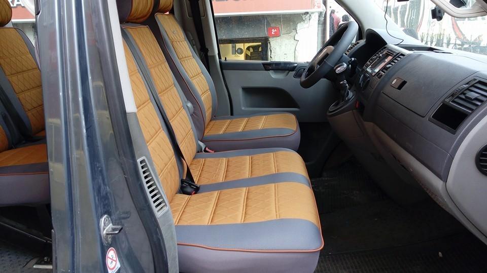 Sitzbezüge Schonbezüge VW Volkswagen T5 Kombi für zwei Einzelsitze