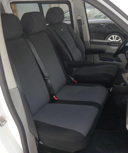 Autositzbezüge VW T5 Caravelle Fahrersitz und 2er Bank Sitzbezüge