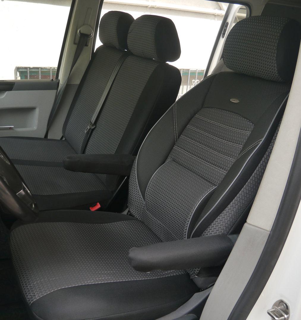 housses de si ge auto vw t5 transporter si ge conducteur et banc. Black Bedroom Furniture Sets. Home Design Ideas