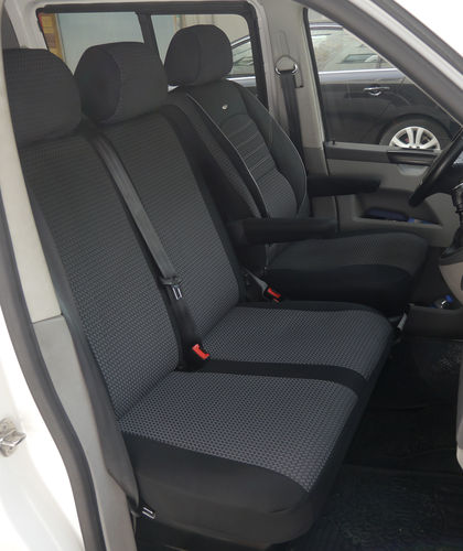 Automotive seat covers VW T6 Kombi RHD for drivers seat and bench