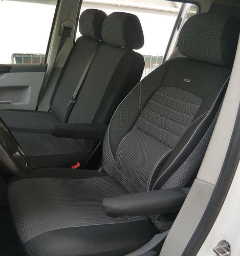 Sitzbezüge Schonbezüge VW T5 Custom Fahrersitz und Doppelbank