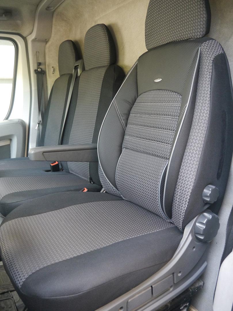 VW LT Moderne Fahrersitzbezug Einzelsitzbezug Sitzschoner robuste Stoff Set