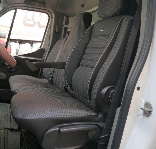 Autositzbezüge Renault Master III Fahrersitz und Bank Sitzbezüge