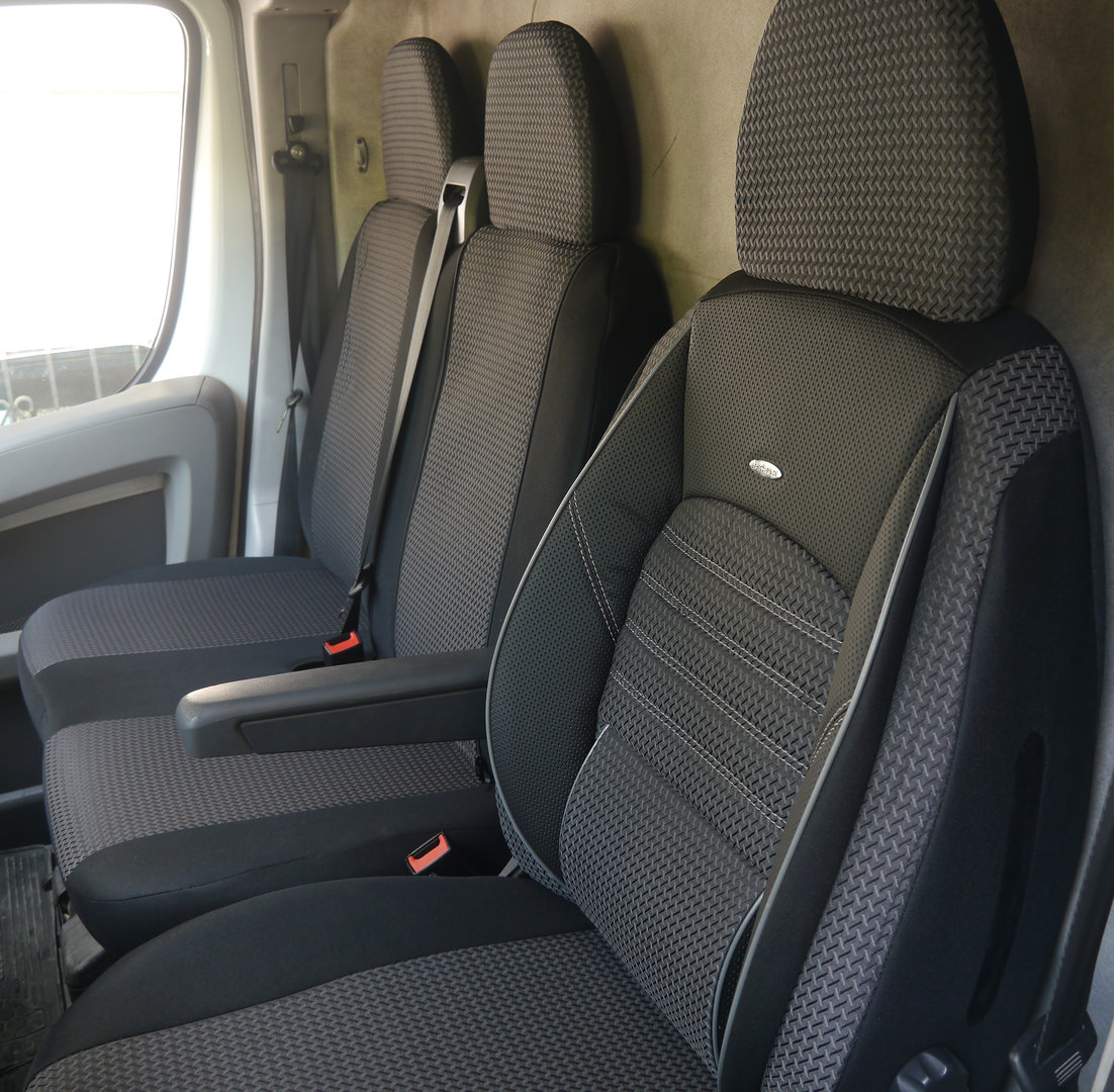 housses de si ge auto ford transit custom si ge conducteur et banc. Black Bedroom Furniture Sets. Home Design Ideas