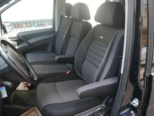 Autositzbezüge Mercedes Vito W639 Fahrersitz + Bank Sitzbezüge
