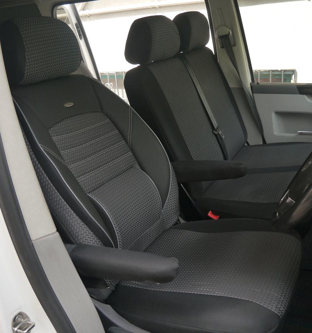 sitzbez ge schonbez ge vw t5 transporter 6 sitzer 2 1. Black Bedroom Furniture Sets. Home Design Ideas