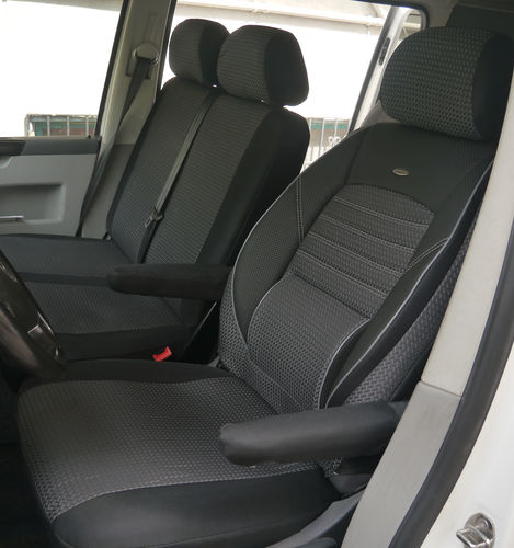 Housses de siège VW T5 Custom 3 places trois sièges