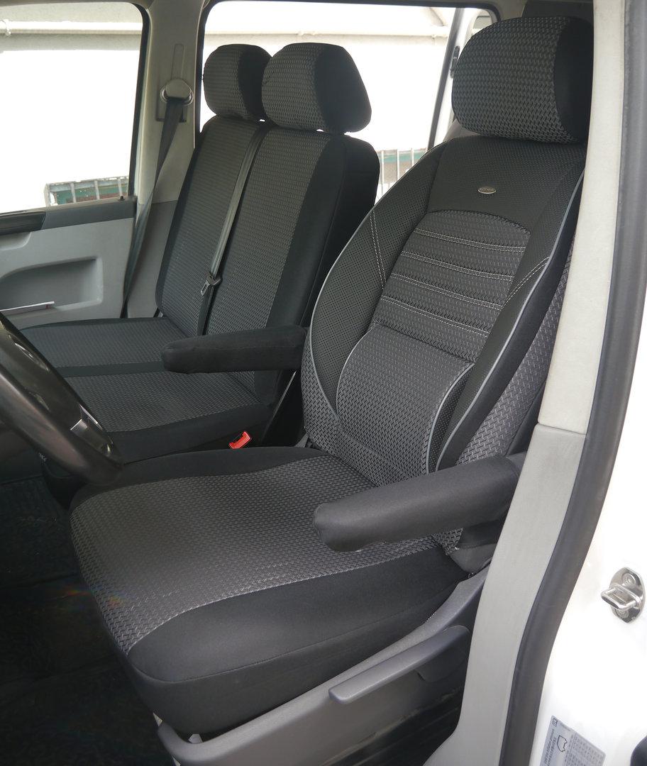 Sitzbezüge Schonbezüge VW T5 Transporter 3-Sitzer Dreisitzer