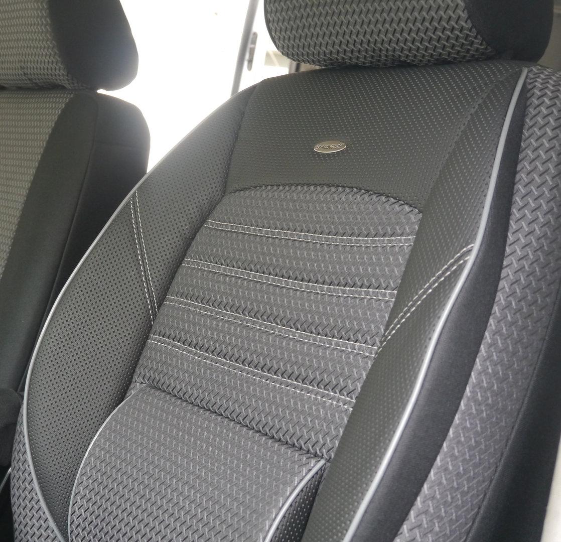 Sitzbezüge VW T5 California Einzelsitze Vorne und Zweierbank