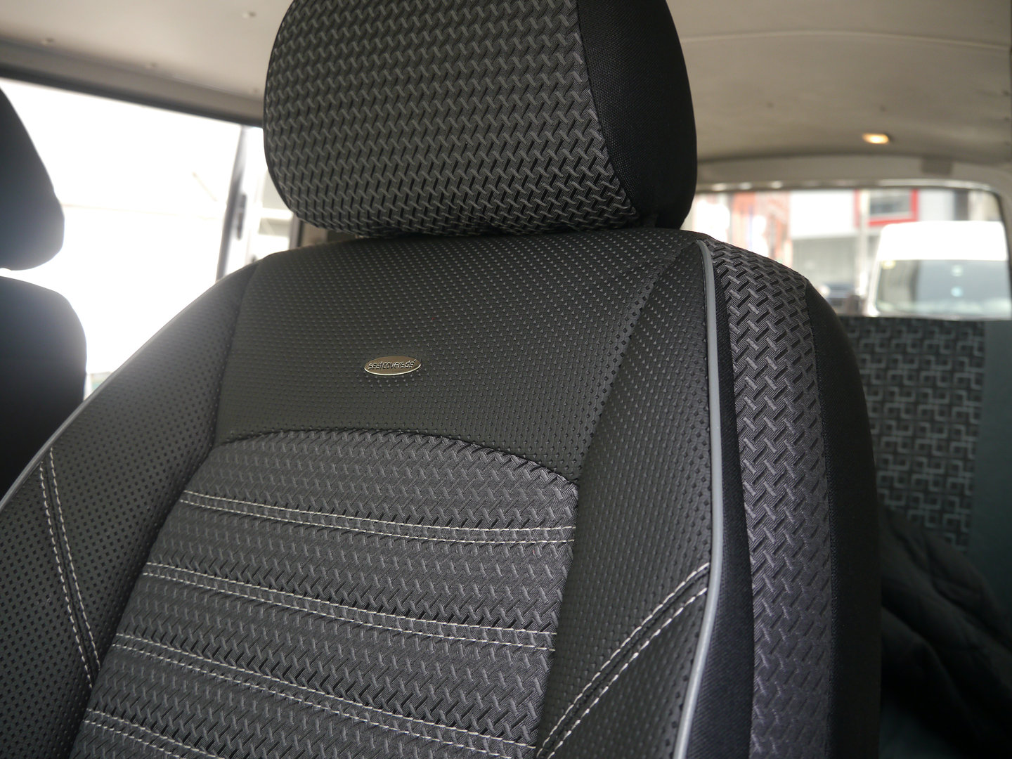 Auto seat covers VW T6 California front seats and two person bench