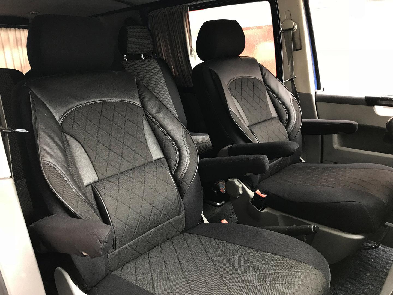 sitzbez ge schonbez ge vw t6 transporter f r zwei. Black Bedroom Furniture Sets. Home Design Ideas
