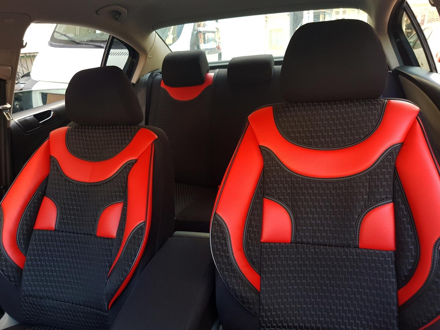 Car Seat Covers Protectors Bmw X3 E83 Black Red No17 Complete