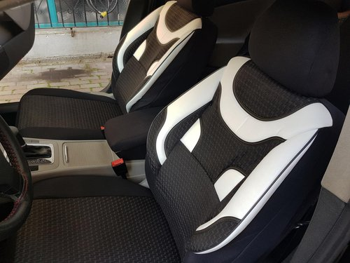 Car seat covers protectors Brilliance BS4 black-white NO20 complete