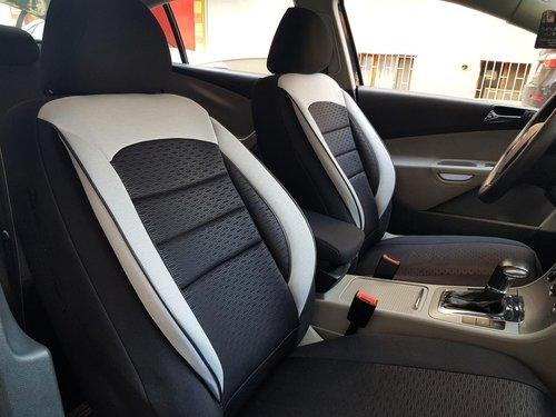 Car seat covers protectors Brilliance BS4 black-white NO26 complete