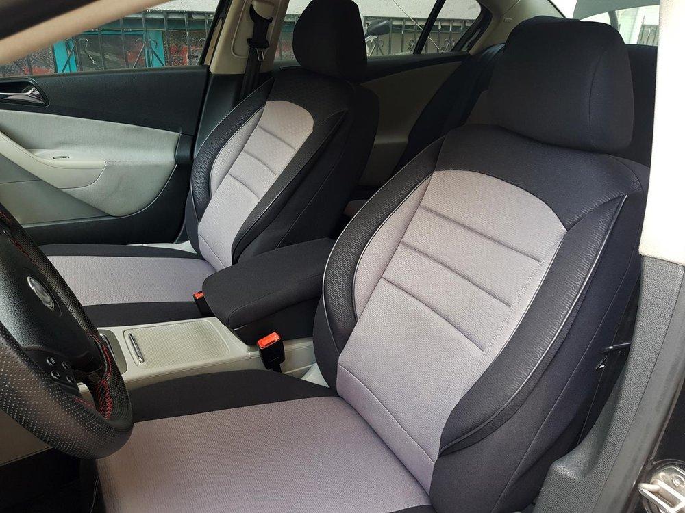Kunstleder Sitzbezüge Sitzbezug Schonbezüge für Mercedes B-Klasse Grau Set
