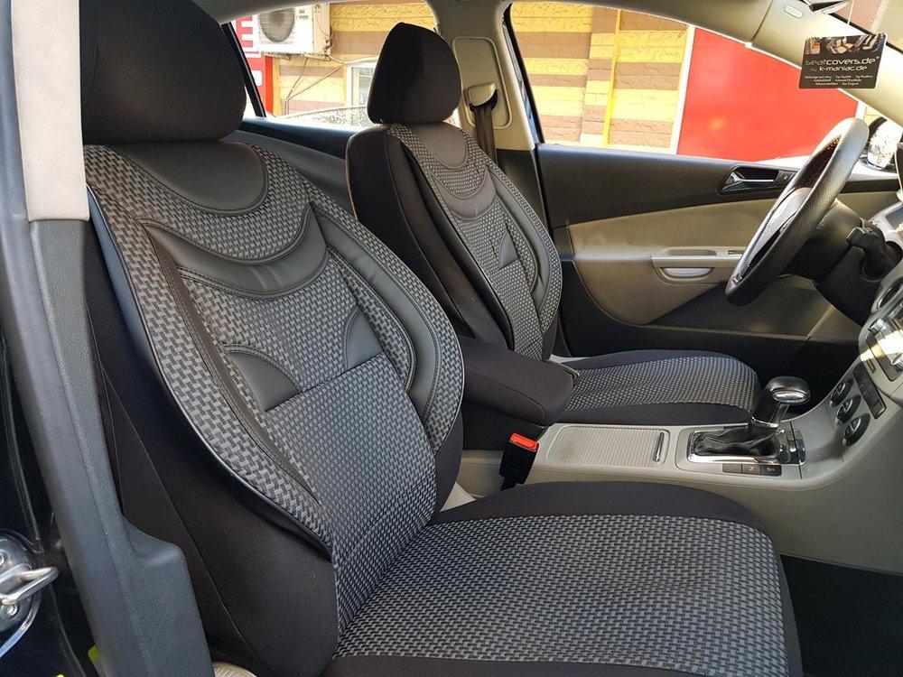 sitzbezüge schonbezüge peugeot 206 sw schwarz-grau no22 komplett