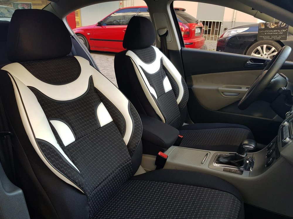 Car Seat Covers Protectors Toyota Camry Black White No20 Complete