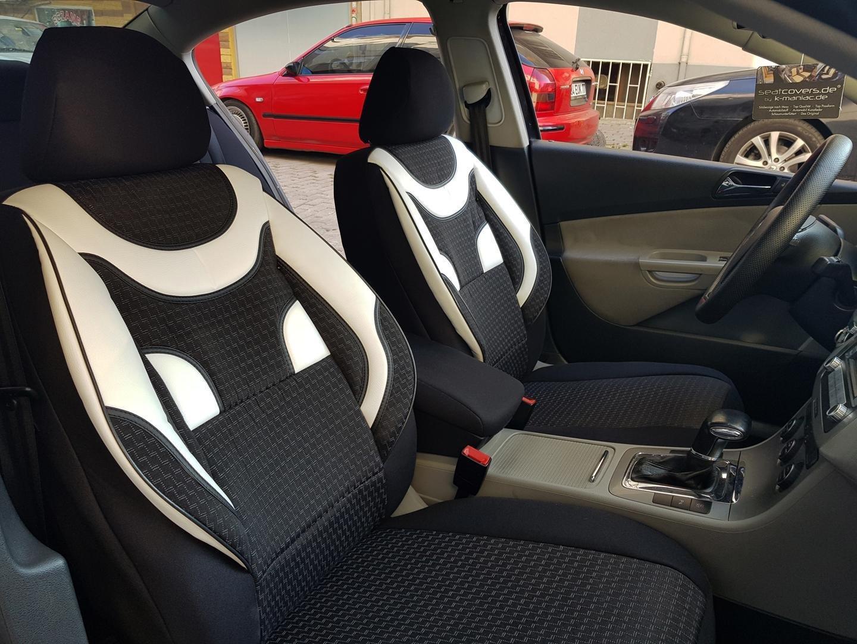 Autositzbezüge für Audi A6 C7 11-17 Schwarz Komplettset Schonbezüge Sitzbezüge
