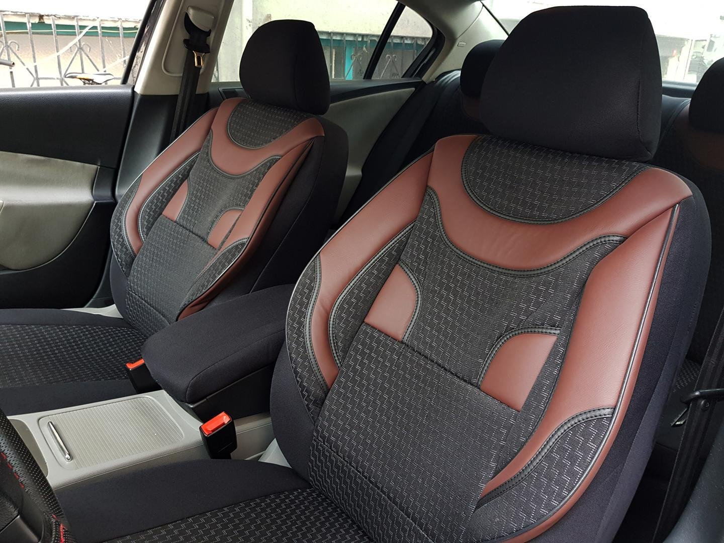 Car Seat Covers Protectors Bmw 5 Series Touring E39 Black Red V3 Front Seats