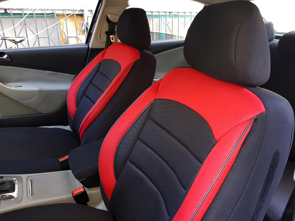 Car Seat Covers Protectors Chevrolet Cruze Black Red V9 Front Seats