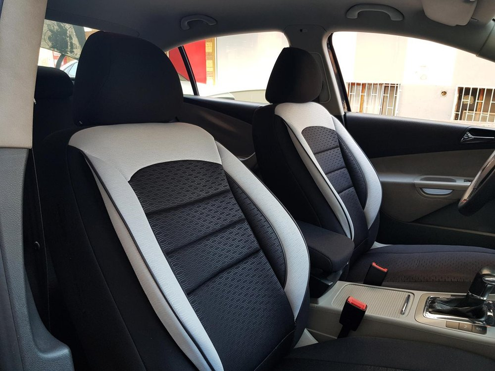 Car Seat Covers Protectors Dodge Journey Black White V10 Front Seats