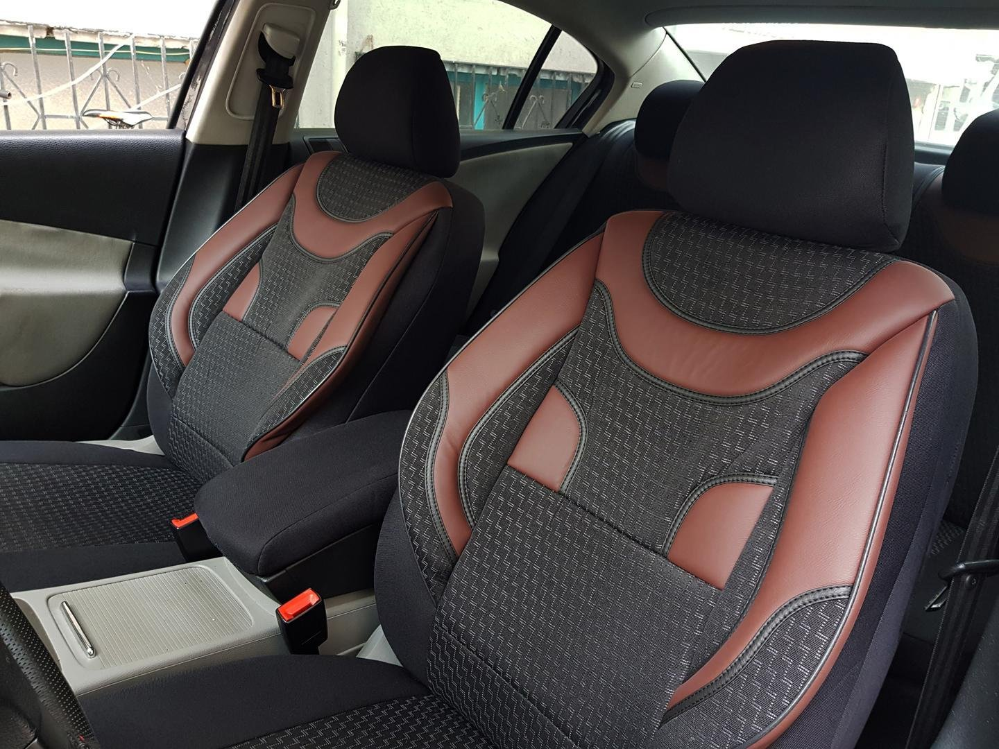 Car Seat Covers Protectors Fiat Bravo I 182 Black Red V3 Front Seats