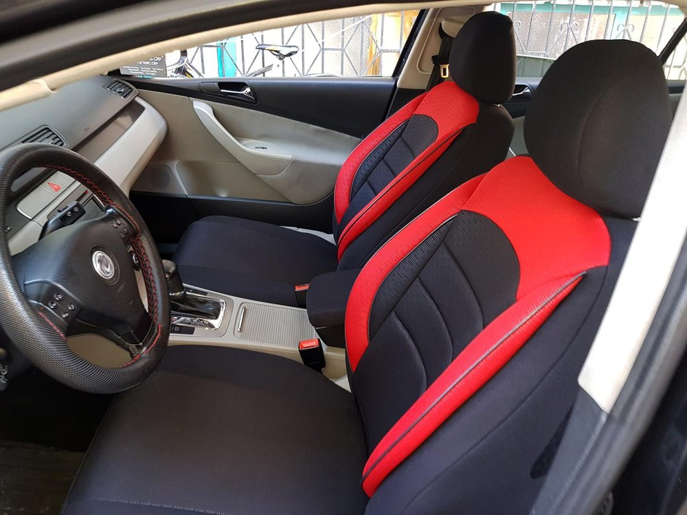 Car Seat Covers Protectors Fiat Bravo Ii 198 Black Red V9 Front Seats