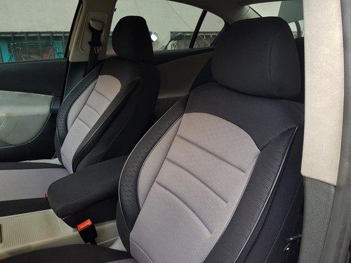 Car seat covers protectors Lancia Musa black-grey V7 front seats