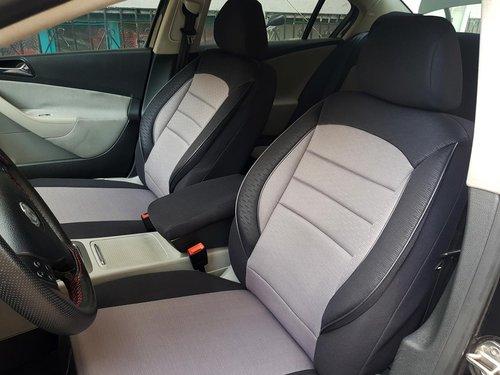 Sitzbezüge Schonbezüge VW Golf VIII schwarz-grau V7 Vordersitze