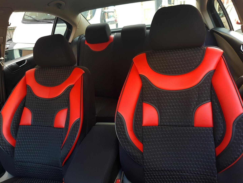 Universal Sitzbezüge für Volkswagen Lupo Dunkel Rot Autositzbezug Schonbezüge