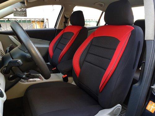 Sitzbezüge Schonbezüge VW Polo(AW) schwarz-rot V9 Vordersitze