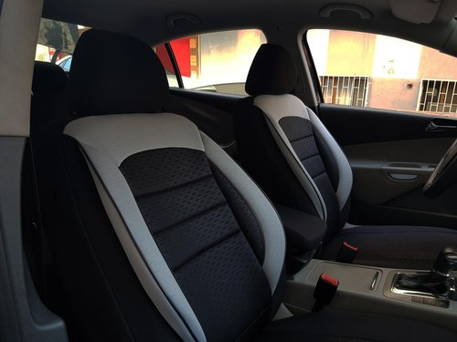 Car seat covers protectors Lancia Musa black-grey V11 front seats