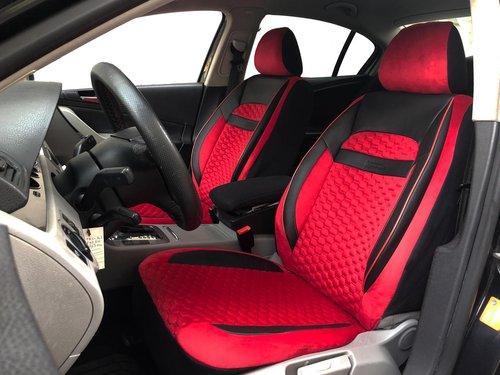 Sitzbezüge Schonbezüge für Audi A1(GB) schwarz-rot V21 Vordersitze